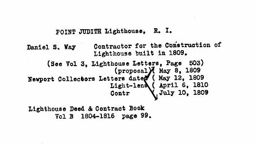 Point Judith Light - Lighthouse Construction Infomation-page 1
