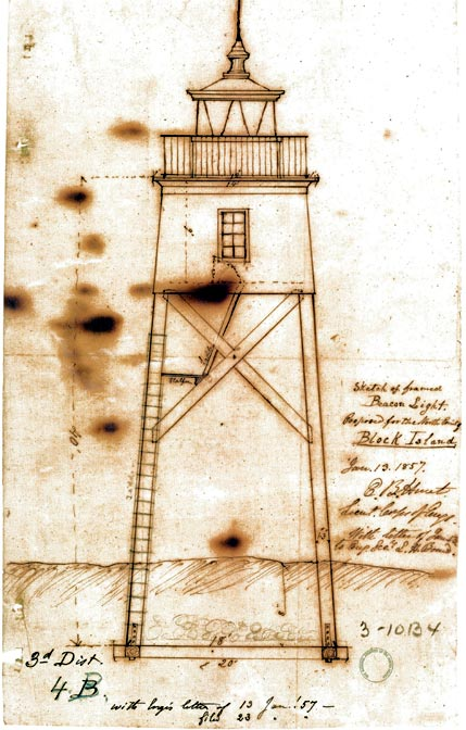 Sketch of 1857 Frame Proposed Block Island North Light