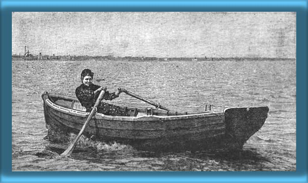 Ida Lewis In Her Rowboat
