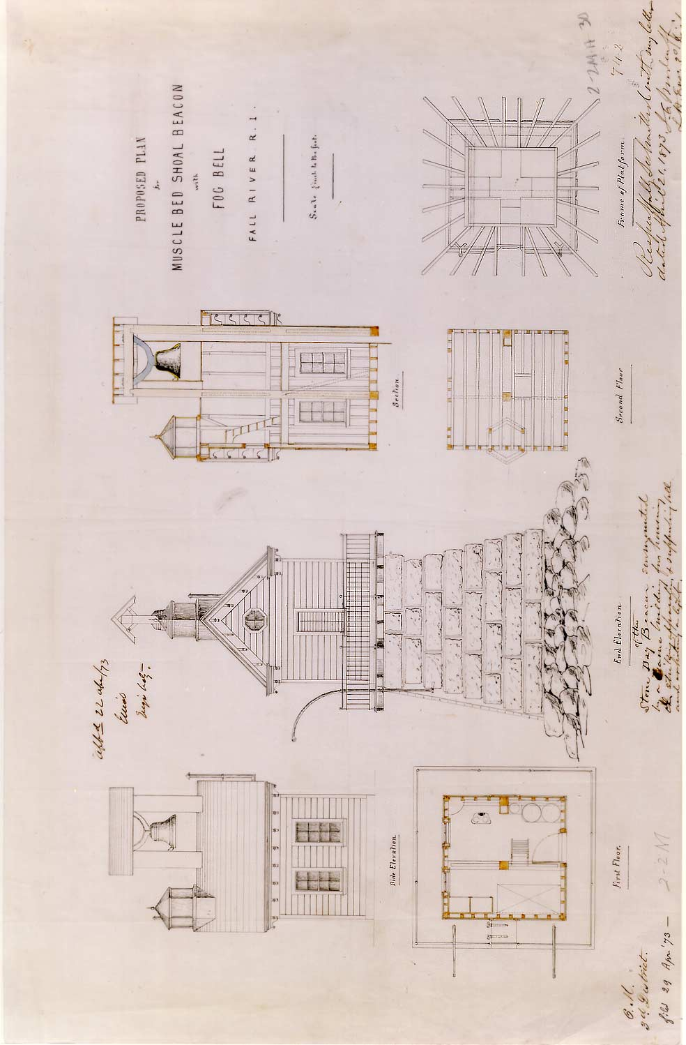 Plan for Musselbed Shoals Lighthouse