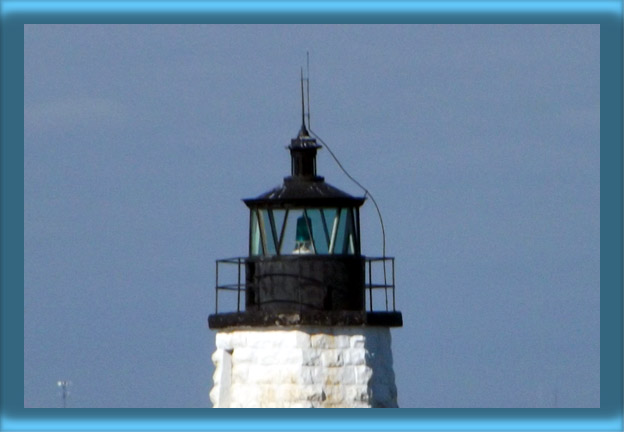 Newport Harbor Lighthouse's Lantern and 300mm Lens