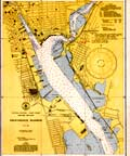 Providence Harbor Nautical Chart - 1945