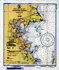 Wickford Harbor Nautical Chart - 1935