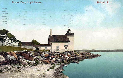 Bristol Ferry Lighthouse Postcard